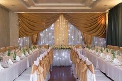 Зала венчания с украшением Стоковая Фотография