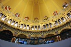 Зала главного ж-д вокзала Праги стоковые фото