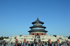 Зала молитве парка Tiantan в Пекине стоковое фото rf