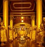 Зала следа ноги Будды на комплексе Shwedagon Стоковая Фотография RF
