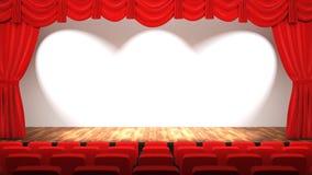 Зала театра стоковые фотографии rf