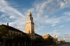зала часов города Австралии обнаружила местонахождение городок башни perth западный Стоковые Фотографии RF