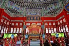 Зала Biyong речи Chinees старая имперского коллежа Guozijian стоковые фото