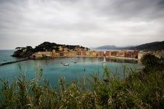 Залив безмолвия, Sestri Levante, Лигурии, Италии Стоковая Фотография RF