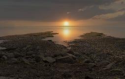 Залив Великобритании Kimmeridge побережья Дорсета стоковое изображение rf