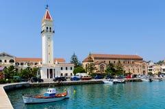 Залив городка Zante на острове Закинфа, Греции стоковые фото