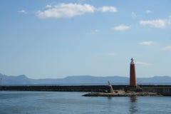 залив Италия naples маяка Стоковые Изображения RF