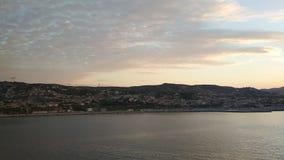 Залив и побережье моря в самом начале утро Le Рио, марсель, Франция видеоматериал