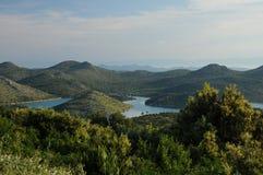 залив красивейшая Хорватия над взглядом telascica Стоковые Изображения RF