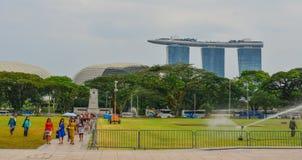 Залив Марины зашкурит здание в Сингапуре стоковое фото rf