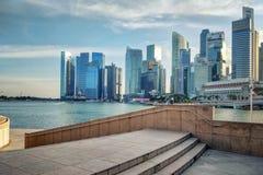 Залив Марины и дело Сингапура городское стоковое изображение