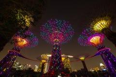ЗАЛИВ МАРИНЫ, СИНГАПУР - 12-ое июня 2016: Archite залива Марины Sigapore Стоковые Фото