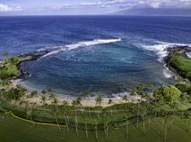 Залив Мауи Гаваи Kapalua Стоковое Изображение RF