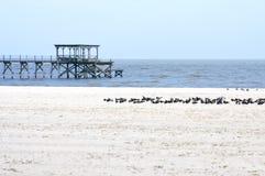 залив Мексика Миссиссипи свободного полета пляжа зоны Стоковые Фото