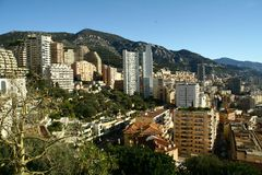 Залив Монако, Монте-Карло, город, стоковое фото