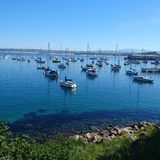 залив Монтерей стоковая фотография rf