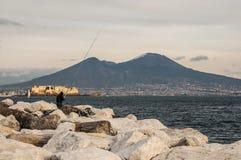Залив Неапола Стоковая Фотография RF