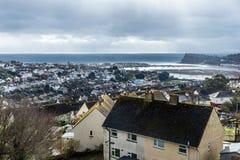 Залив около города стоковая фотография rf