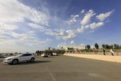 Залив песка xiangsha места для стоянки, саман rgb Стоковое Изображение RF