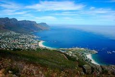 залив располагается лагерем Cape Town Стоковые Фото