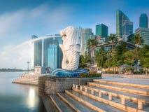 Залив финансового района и Марины в Сингапуре Стоковое Изображение