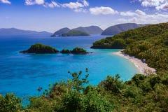 Залив хобота на St. John, США Виргинских островах стоковая фотография
