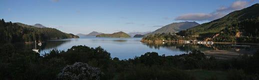 Залив Элейна - Новая Зеландия - панорама Стоковые Фото
