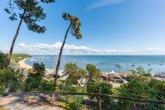 Залив Arcachon, Франция Взгляд над заливом стоковая фотография