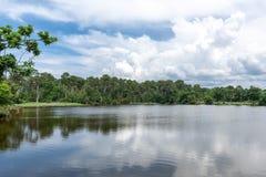 Залив Arcachon, Франция, озеро около фретки крышки Стоковое фото RF
