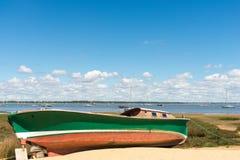 Залив Arcachon, Франция, типичная рыбацкая лодка Стоковая Фотография RF