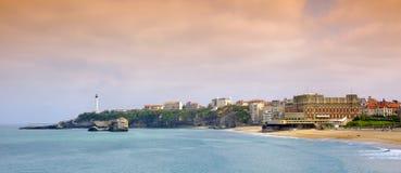 залив biarritz Стоковые Фото