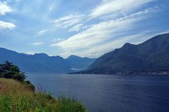 Залив Boko Kotor в Черногории стоковое фото