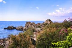 Залив Caminia, Калабрии, Италии Стоковая Фотография RF