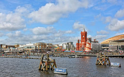 Залив Cardiff во время весьма серии 2012 Sailing Стоковые Изображения