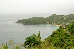 Залив Castara, Тобаго Стоковое Изображение