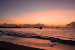 Залив Dickenson, Антигуа Стоковая Фотография RF