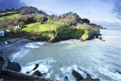 Залив Exmoor утеса Стоковое фото RF