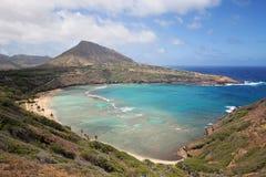 Залив Hanauma, Гавайские островы стоковые изображения