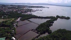 Залив Honda в Puerto Princesa, Palawan, Филиппинах видеоматериал