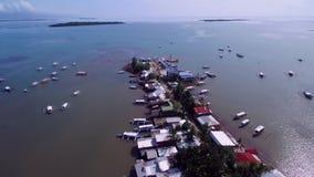 Залив Honda в Puerto Princesa, Palawan, Филиппинах акции видеоматериалы