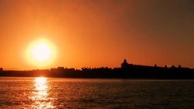 Залив Hurghada Египет Makadi захода солнца Стоковая Фотография