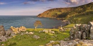 Залив Murlough на побережье мощёной дорожки Северной Ирландии Стоковое Изображение RF