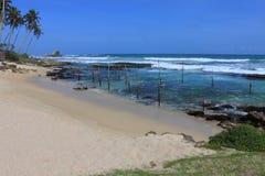 Залив ` s рыболовов в Шри-Ланке в полдень стоковое изображение rf
