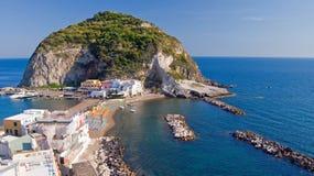 Залив Sant Angelo, Ischia, Италии Стоковая Фотография RF