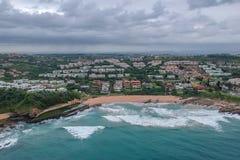 Залив Thompsons, утес Shakas, Kwazulu Natal, Южная Африка стоковое изображение rf