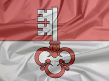 Залом предпосылки флага Обвальдена, кантон конфедерации Швейцарии иллюстрация штока