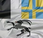 Залом graubunden предпосылка флага, кантон конфедерации Швейцарии иллюстрация штока