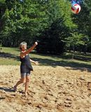 залп пляжа шарика Стоковые Изображения