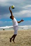 залп пляжа 2 шариков Стоковое Изображение