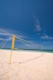 залп сети пляжа шарика Стоковая Фотография